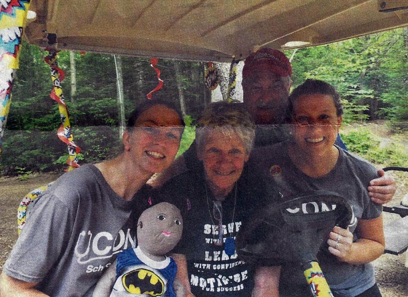 From left, UCONN student Jill Newall, camp nurse Judy Reardon, camp director Steve Lupinacci and UCONN student Amber Ryan