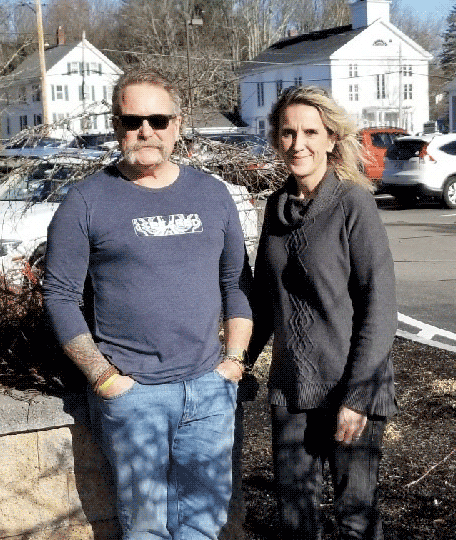 Firefighter William A Paine with Kathlene Gerrity of the Connecticut Burns Care Foundation